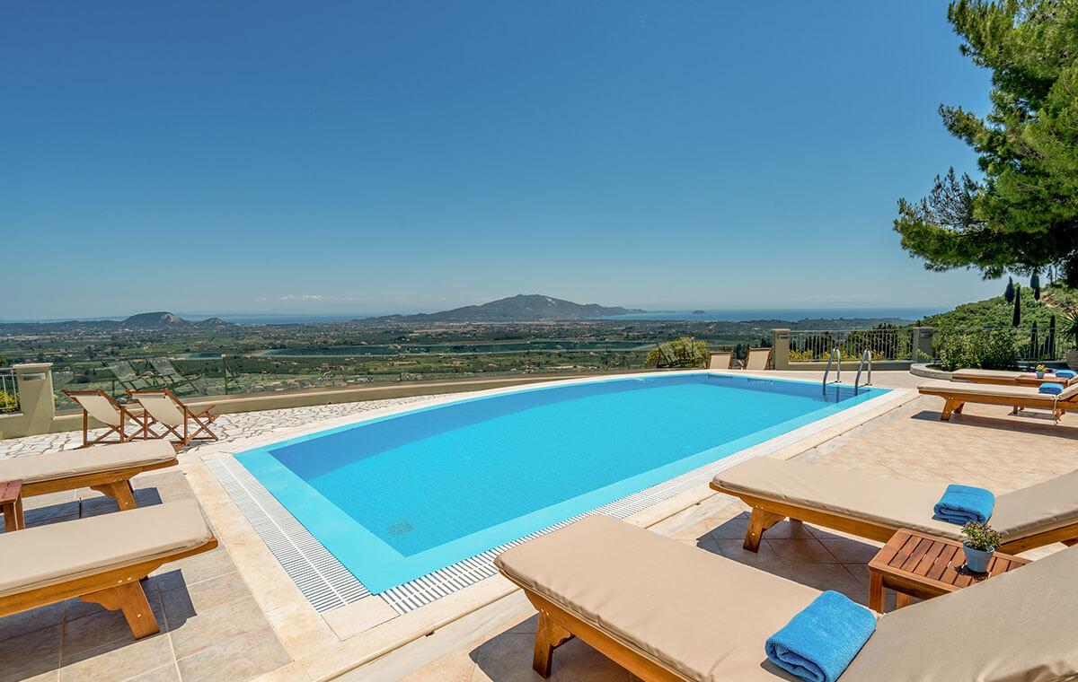 Facilities Castelli Luxury Villas with Private Pool in Zante Zakynthos Greece