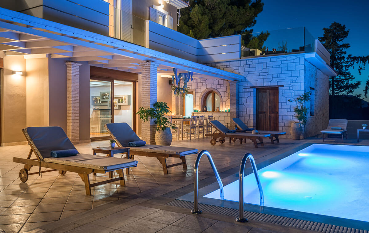 Castelli Luxury pool villa Zante Zakynthos Greece